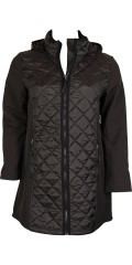 DNY (Marc Lauge) - Smart jacket from dny in quilted and soft shell quality, with detachable cap and 2 zipper pockets