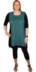 Handberg - Smart tunica/kjole med 3/4 ærmer og fint bærestykke. slankende paneler i siderne
