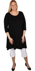 Handberg - A-formad basic klänning med rund hals med 3/4 ärmar