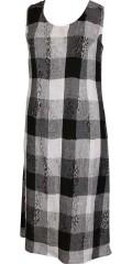 Q´neel - Flot lang faconsyet hør kjole. lækker eksklusiv italiensk kvalitet
