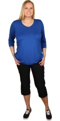 Q´neel - Basic blouse with v neck and 3/4 sleeves