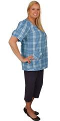 DNY (MARC LAUGE) - Super fit 3/4 stumpe buks med 5 lommer, regulerbar elastik i taljen samt bæltestropper