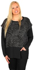 Cassiopeia - Blouse with small wing sleeves and nice zebra print.