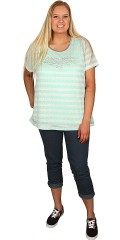 Crizpy (Zhenzi) - Kortærmet t-shirt med sølvfarvede palietter