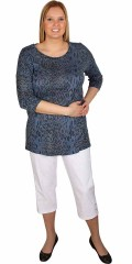 Cassiopeia - Autumn knit with 1/2 sleeves and animal print