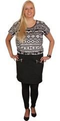 """Cassiopeia - Flot kjole med rund hals og pynte lynlås i """"nederdelen"""""""