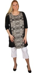 Cassiopeia - Tunica/dress with 3/4 sleeves and nice animal print. Sweet slits in the neck. Fine thin polyester-quality