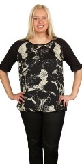 Cassiopeia - Dalia t-shirt with print on front piece and round neck