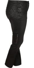 Cassiopeia - Smarte mønstrede bukser med 5 lommer, bæltestropper og regulerbar elastik i taljen