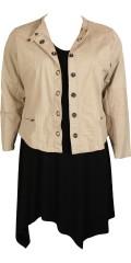 Zhenzi - Smart jakke i bomull kvalitet med tøffe knapper, stikninger og dekorative glidelåser