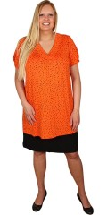 Zhenzi - T-shirt/tunica with short sleeves and v neck, with smart dots