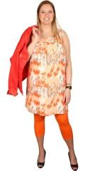 Zhenzi - Tunika kjole uden ærmer og med fast syet underkjole, i smart mønster