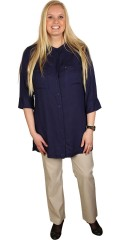 Cassiopeia - Big shirt with 3/4 sleeves and vents in the sides
