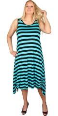 Handberg - Smart kjole med rund hals og smock elastik i ryggen, god vidde forneden og med snøre