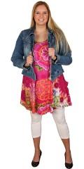 Handberg - Sommar klänning med vacker blomster print a-formad och liten ficka