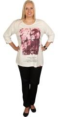 Zhenzi - Smart bluse med 3/4 ærmer, print og palietter