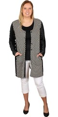Gozzip - Nice long cardigan in black/white colours and fields with pockets