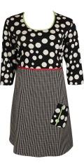 Gozzip - Smart klänning med rund hals och 3/4 ärmar