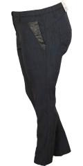 Zhenzi - Flotte mønstret twist strekk bengalin bukse med 5 lommer, beltestropper og strikk i taljen, lukkes med bknapp og glidelås