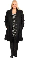 Q´neel - Exclusiv uld frakke med 2 skrå lommer, lukkes med forskellige smarte knapper