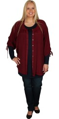 Zhenzi - Shirt/tunica with round neck and 3/4 sleeves with string