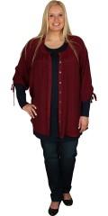 Zhenzi - Skjorte/tunica med rund hals og 3/4 ærmer med snore