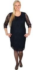 Zhenzi - Fine blonde kjole med 3/4 ermer og sydd for