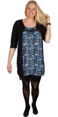 Cassiopeia - Zack tunika/klänning med 3/4 ärm och vacker  dyreavtryck. Avslutas med gummiband under