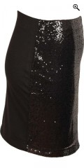 Cassiopeia - Skirt with rubber band in whole the waist and black sequins in front piece