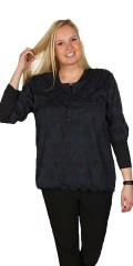 Cassiopeia - Smart blouse with 3/4 sleeves and  in nice graphic print
