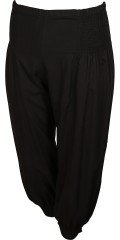 DNY (Marc Lauge) - Tina pant stump pants with smock partial around in the waist also at the bottom in trouser leg