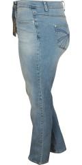 DNY (Marc Lauge) - Line jeans i lys wash med slid 80 og 86 cm med regulerbar elastik i taljen fra str 46 og op