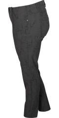Zhenzi - Superstrech bengalin twist legging med smart snake print og super strech, elastik i hele taljen, 5 lommer