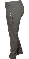 Zhenzi - Lange bukser twist legging fit med elastik i hele taljen og bæltestropper samt 5 lommer