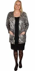 Zhenzi - Kardigan med blixtlås och 2 fickor och vacker mönster