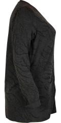 Zhenzi - Cardigan med lynlås og 2 lommer og flot mønster