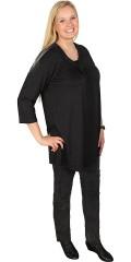 Zhenzi - Dejlig t-shirt med 3/4 ærmer og smart halsrib