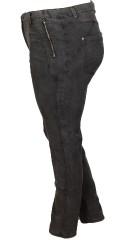 Studio - Spar 320 kr på jeans fra studio med masser af strech og fine stikninger. regulerbar elastik i taljen og bæltestropper.
