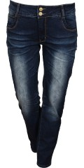 Veto - Save 420 kr. On veto jeans with wash-effect. Stretch, wide band with two buttons, belt straps and five pockets