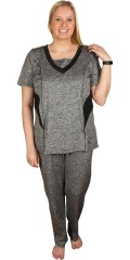 Studio - Really nice fitness-top with short sleeves and v cutting with a piece