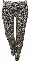 Zhenzi - Bløt bukser med smart trykk, 2 lommer og strikk i hele taljen