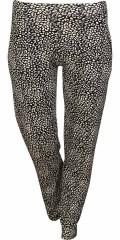Zhenzi - Bløde pants med smart tryk, 2 lommer og elastik i hele taljen