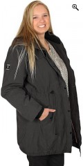 Cassiopeia - Lined jacket with 2 sloping pockets and detachable cap