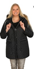 Cassiopeia - Lined and zipped-through transition jacket with cap and detachable edge in fake fur