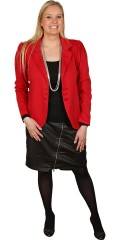 Zizzi - Stylish soft shape sewn suit in fine red knit quality