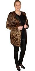 Zizzi - Foret selskap jakke i satinlook med dyreprint