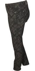 Zhenzi - Twist bukser med elastik i hele taljen og bælte stropper