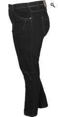 Zhenzi - Twist pants. stretch denim buks med 5 lommer, bæltestropper og elastik i taljen