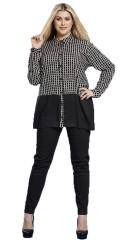 Zhenzi - Gennemknappet skjorte med lange ærmer