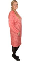Zhenzi - Tynd strik kjole med rund hals og lille lynlås foran, smart bånd over skulder og ærmer
